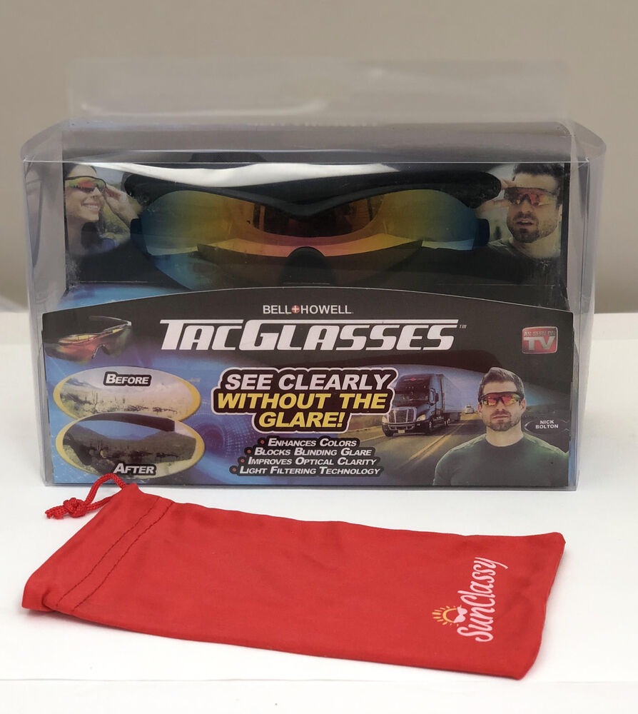 b2175e2bd5 Ne Bell + Howell Tac Glasses Military Style Sunglasses Glare Enhance Colors  ASTV