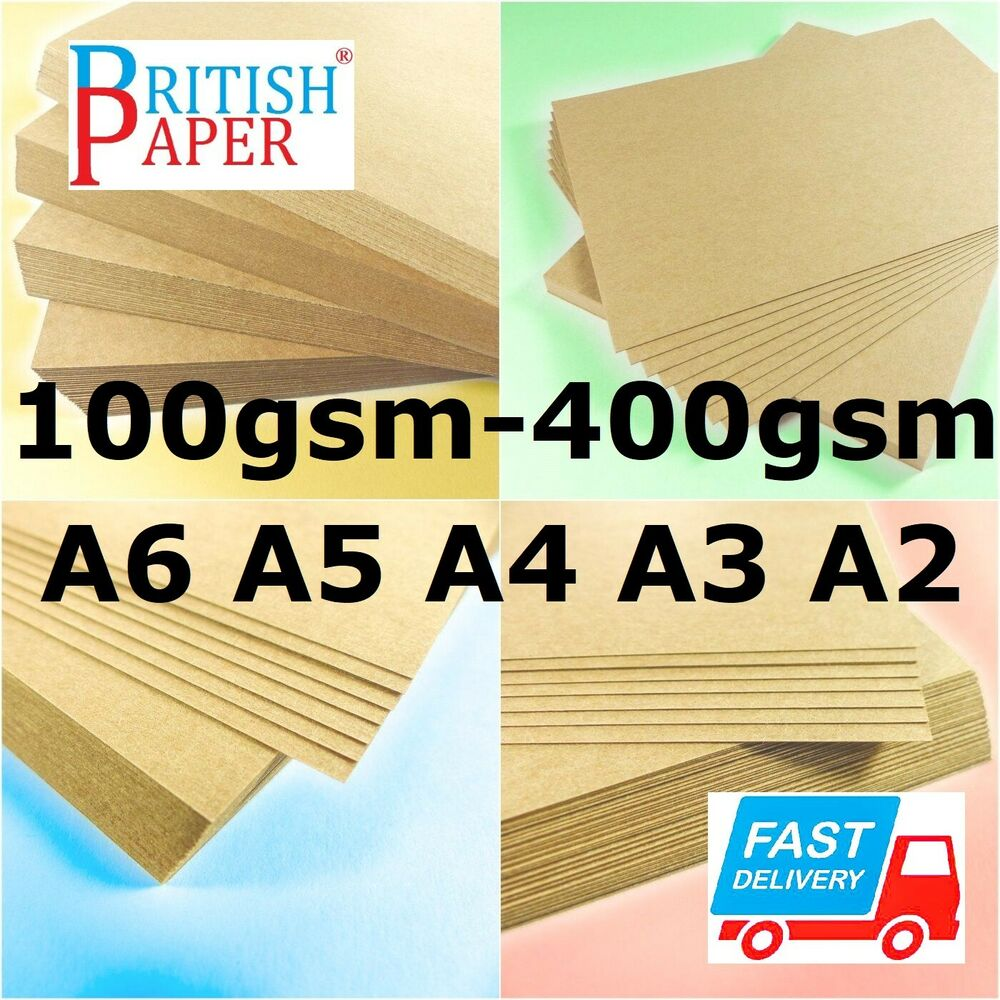 a3 a4 a6 brown kraft card stock thick paper cardboard