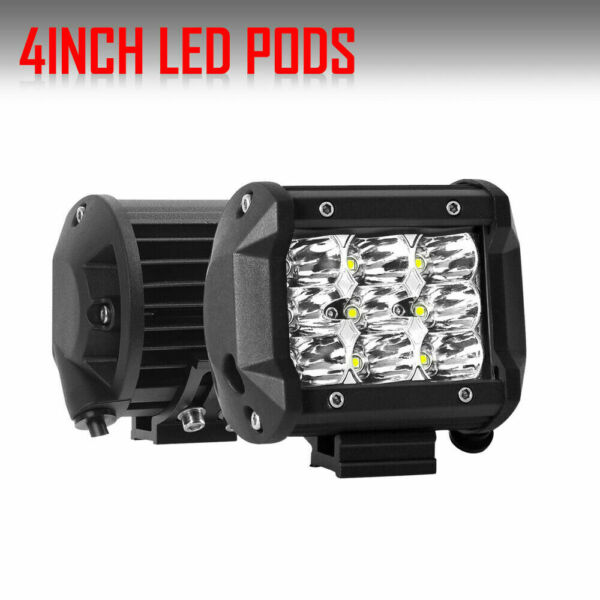 2PC 4inch 144W LED Work Light Bar Spot Cube Pods for Ford DRIVING LAMPS SUV 7