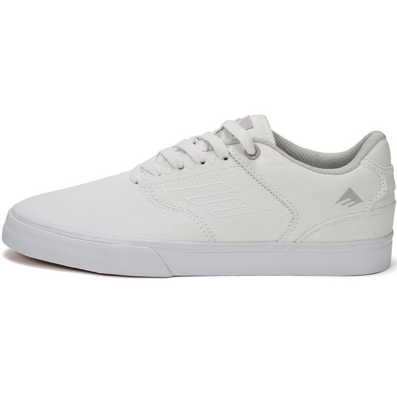 7dbb495e2d15 Details about Emerica The Reynolds Low Vulc Skate Shoes White Suede