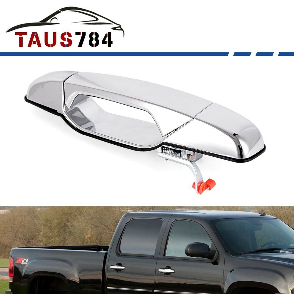 Chrome Outside Door Handle For 2007-2013 Chevy GMC Front