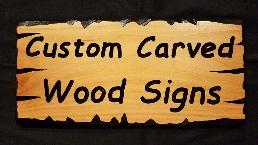 Custom Carved Wood Signs Made To Order Your Text Cedar