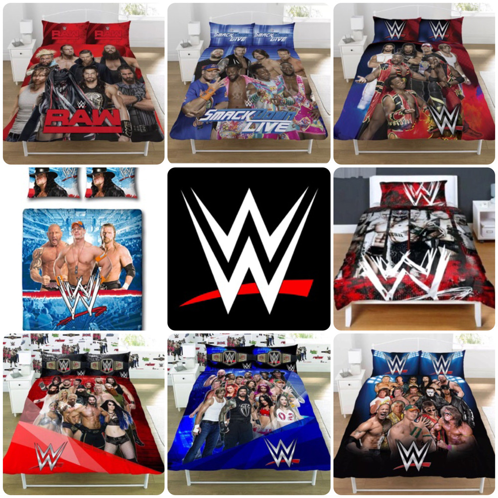 WWE Legends Wrestling Face Vs Heel Smackdown Raw Bedding