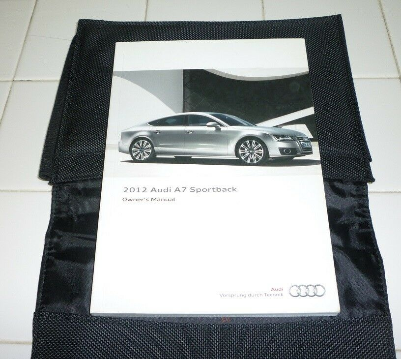 2012 AUDI A7 SPORTBACK OWNERS MANUAL SET GUIDE 12 W/case