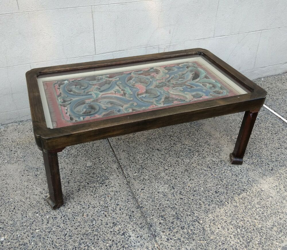 Phenomenal Antique Chinese Architectural Carving Mounted As Coffee Table Ebay Machost Co Dining Chair Design Ideas Machostcouk