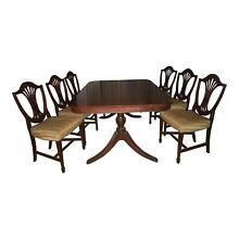 Duncan Phyfe Style Dining Table and 6 chairs - circa 1930-40's