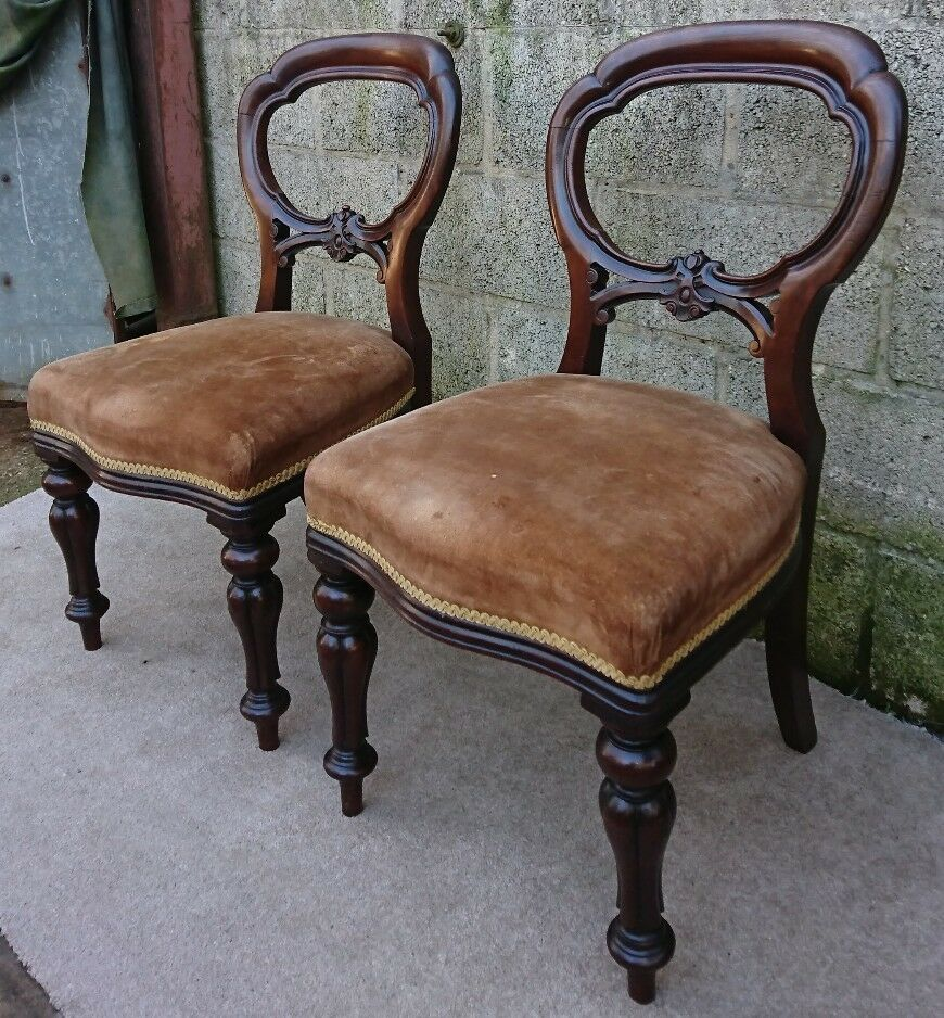 Details About Pair Of Antique Regency / William IV Rosewood Chairs