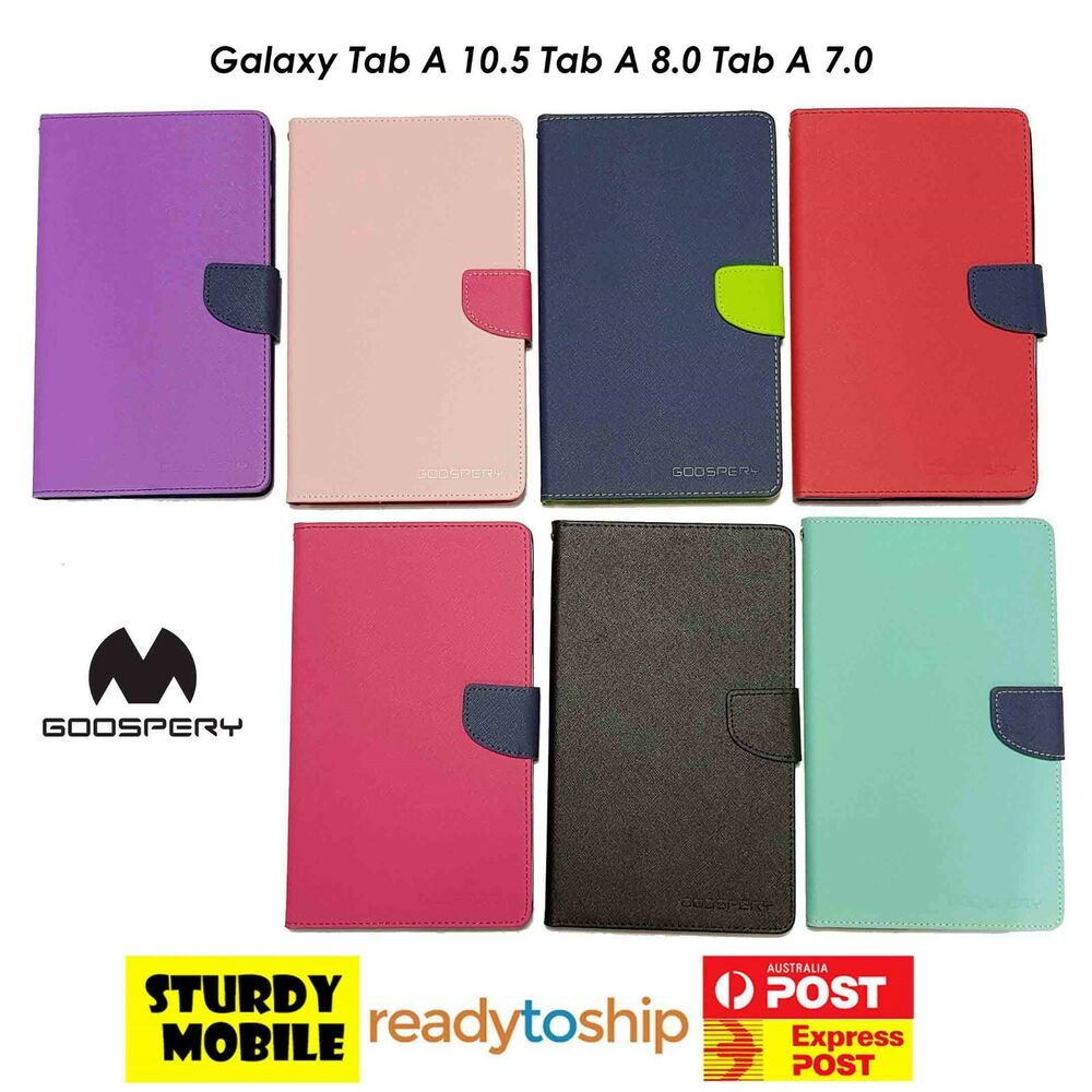 Samsung Galaxy Tab A 80 2017 70 T380 T280 Goospery Fancy Diary Note 8 Case Pink Hotpink Cover Folio Ebay