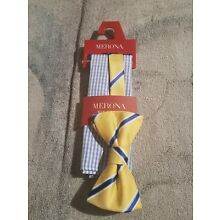 Men's Bow Tie And Pocket Square Set - Merona Blue/YELLOW [New with Tags]