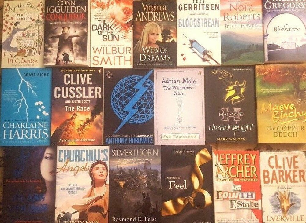 Wholesale Job lot of 100 Fiction Mixed Books, Best Selling