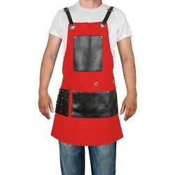 Kyпить Barber Apron Cape Multipurpose Apron 8 Pockets Red Apron Best Selling By Forgica на еВаy.соm