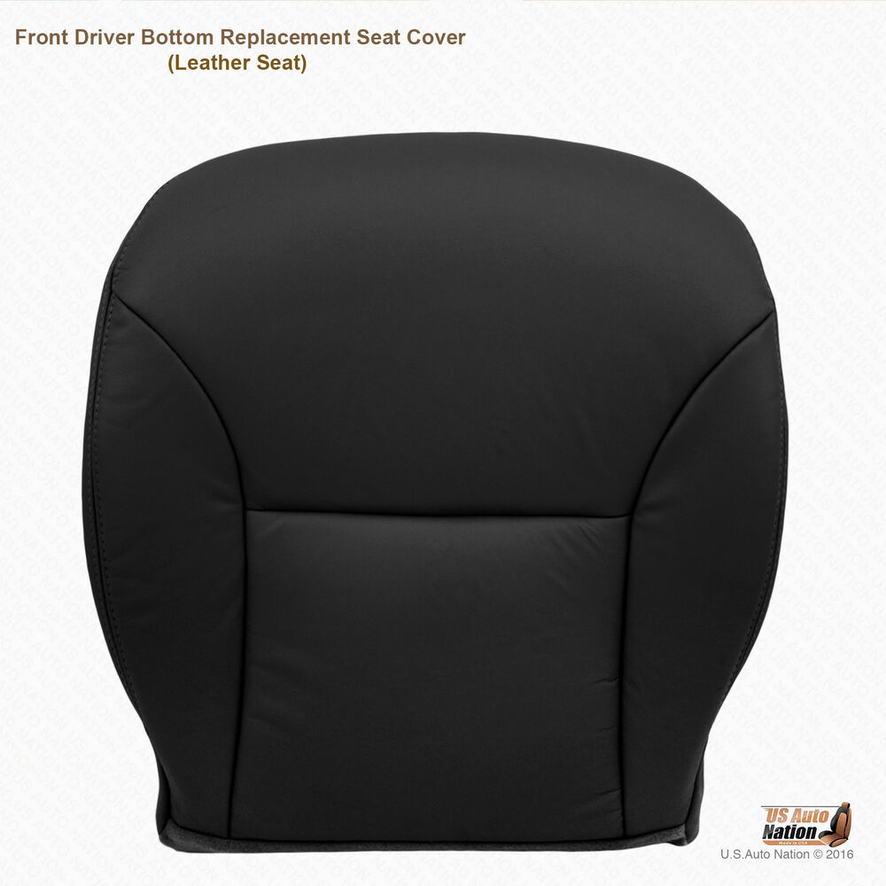2004 Lexus Es330 For Sale: Driver Bottom Leather Seat Cover BLACK Fits 2002 03 2004