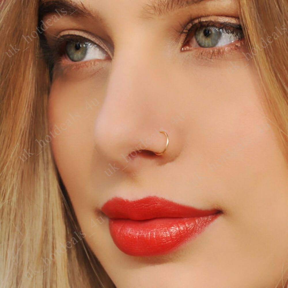Fake Nose Ring Septum Ring Hoop Cartilage Tragus Helix Small Thin ...