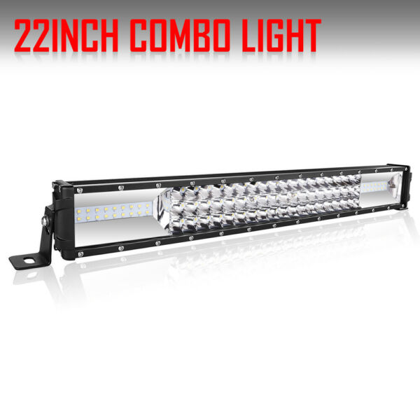 Dual Color 22 Inch 1080W Tri row LED Work Light Bar Combo Offroad Truck Lamp 4WD