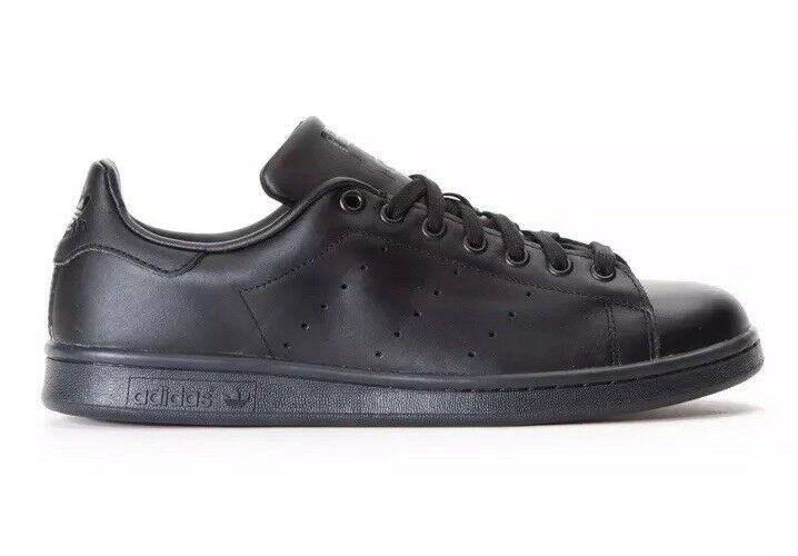 cac740204413ae Details about NEW Adidas Originals Stan Smith Black Black Men s Tennis  Shoes M20327 SIZE 4
