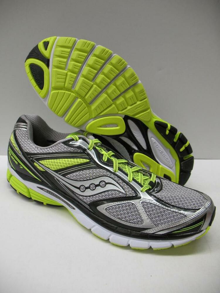 bb2b5588f113 Details about Saucony S20227-5 Guide 7 Running Training Shoes Sneakers Black  Yellow Mens 15