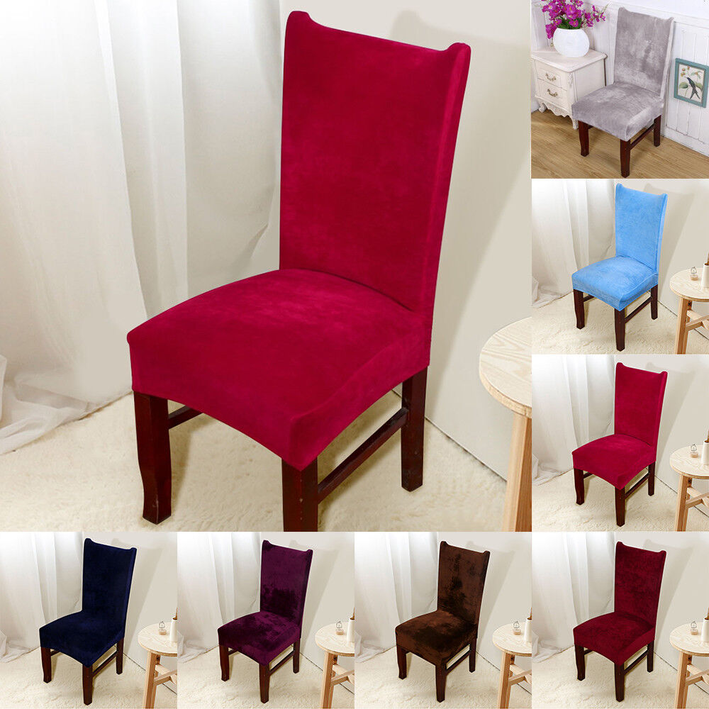 4/8 Chair Covers Removable Stretch Slipcovers Dining Room ...