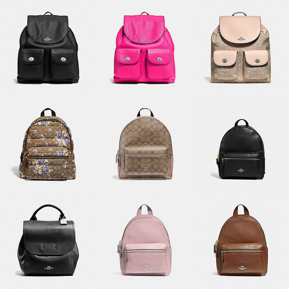 cb7df2c5978fd Details about Coach F37410 Pebble Leather Billie Backpack