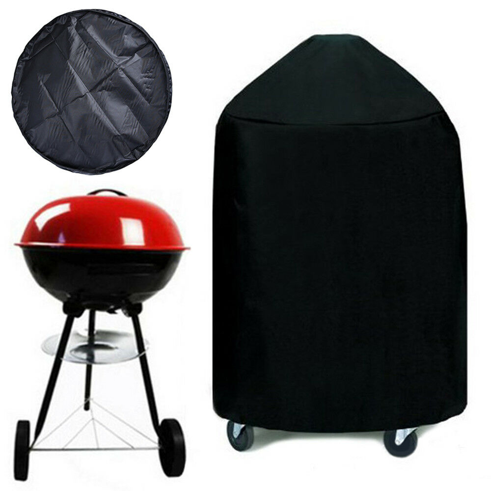 Details About Bbq Grill Cover Black 22 Small Barbecue Round Kettle Yard Outdoor
