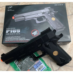 Kyпить BEST QUALITY ORIGINAL FULL SIZE SPRING AIRSOFT GUN PISTOL WITH FREE 1000 BB'S  на еВаy.соm