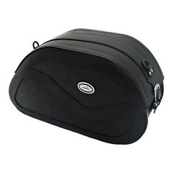 Ledrie Saddle Bags Deluxe Leather, Reinforced, 27 Litre, F.Harley - Davidson