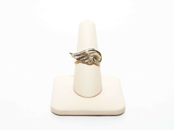 AFFINITY BAGUETTE DIAMOND 14K CLAD ANGEL RING (20778-3-18)