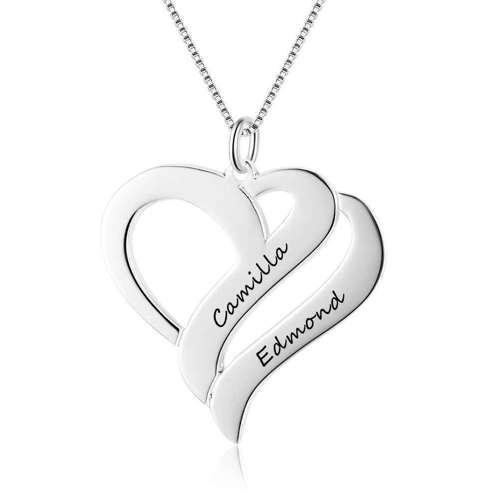 3f1ba226b5dbd Details about Personalised Name Love Heart Necklace Pendant 925 Sterling  Silver Gift Jewelry