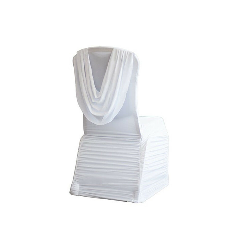 Chair Covers Spandex Lycra Chair Cover White Ruffled