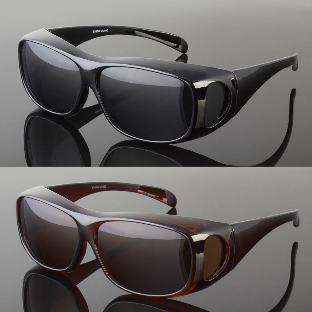 2fe5ef84b8c Details about POLARIZED SOLAR SHIELD FIT OVER SUNGLASSES COVER ALL GLASSES  DRIVE FISH NEW