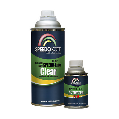 Automotive Clear Coat Fast Dry Urethane, SMR-130P/60 Fast Pint Clearcoat Kit