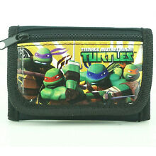 TMNT Teenage Mutant Ninja Turtles Wallet for Boys Kids Trifold Zip Coin Wallets