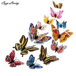 Fridge Butterfly Magnet Wall Stickers 3D Design Decal Art Room Magnetic 12PCS