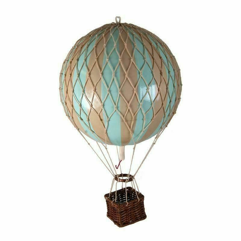"""Hot Air Balloon Model Mint Striped 22"""" Hanging Ceiling"""