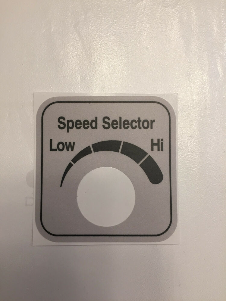 Hobart automatic slicer 2912 6 speed control sticker label decal ebay