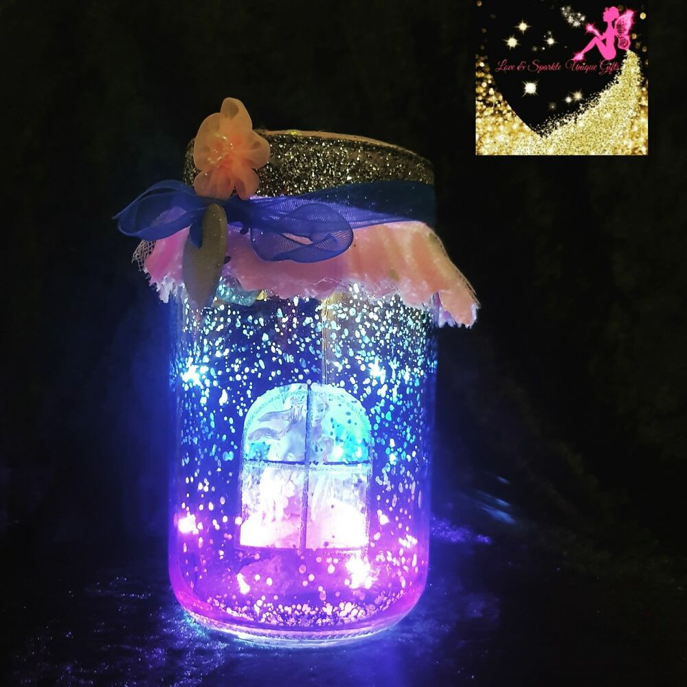 142c84d8 Details about Light Up 3D Pink and Blue LED Starlight ombre Fairy Jars/pretty  little gifts