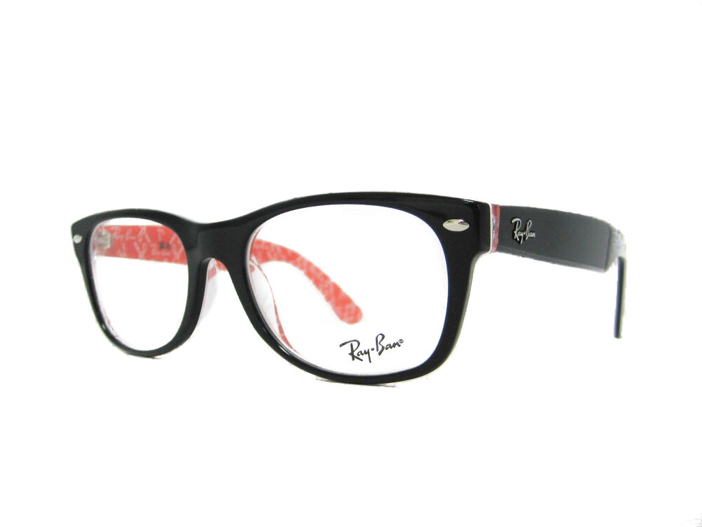 7c07a262b5 new authentic RAY BAN Eyeglasses RX5184 2479 52mm TOP BLACK ON TEXTURE RED  805289418535