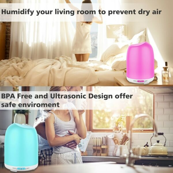 500ml 7 LED Essential Oil Humidifier Aroma Air Aromatherapy Diffuser Cool Mist