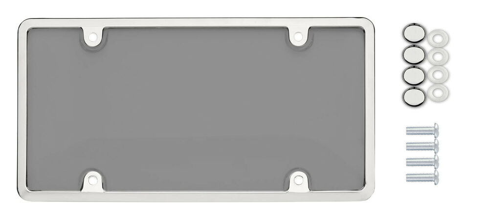 Universal Unbreakable Tinted Smoke License Plate Shield
