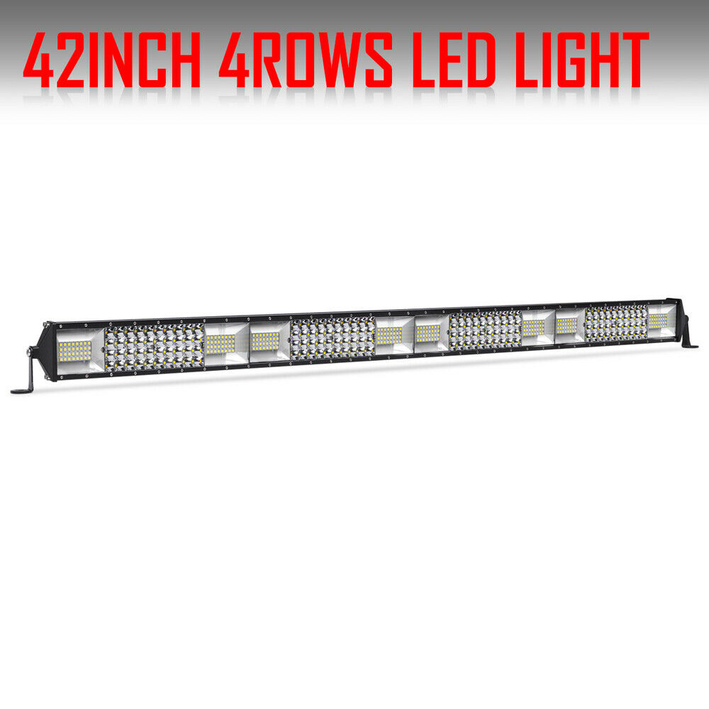 9d413671dab Details about 3328W 42Inch Quad Row Led Work Light Bar Offroad Combo  Driving Lamp Car Truck 40