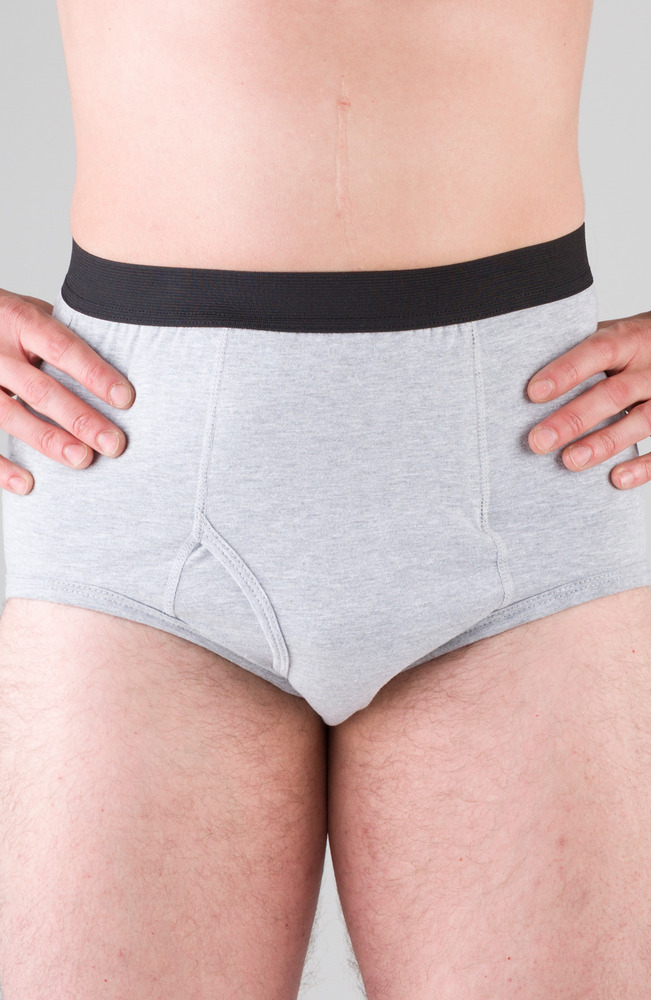 01c76b398d637a Details about Men's Briefs Gray, Stoma, 32-34 Waist OSTOmysecret - NEW -  Free Shipping