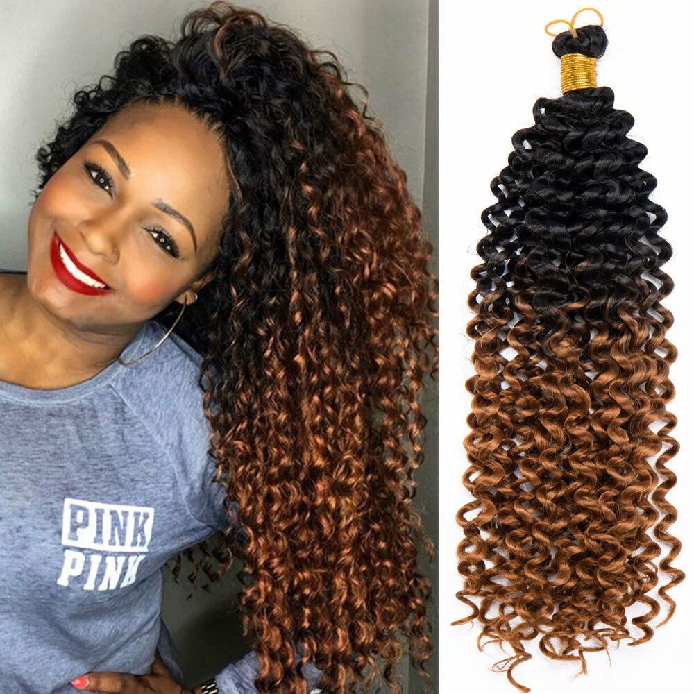 "USA 14"" Curly Wavy Crochet Twist Braids Synthetic Ombre ...