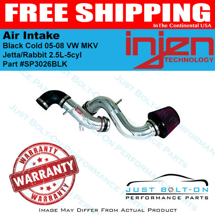 Injen Fits 05-08 VW MKV Jetta//Rabbit 2.5L-5cyl Black Cold Air Intake SP3026BLK