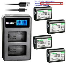 Kastar Battery LCD Dual Charger for Sony NP-FW50 BC-VW1 & ILCE-6000 Alpha a6000