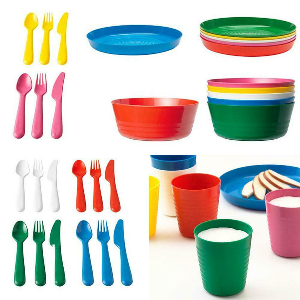Ikea children kids plastic bowls cups plates cutlery - Cups and kids ...