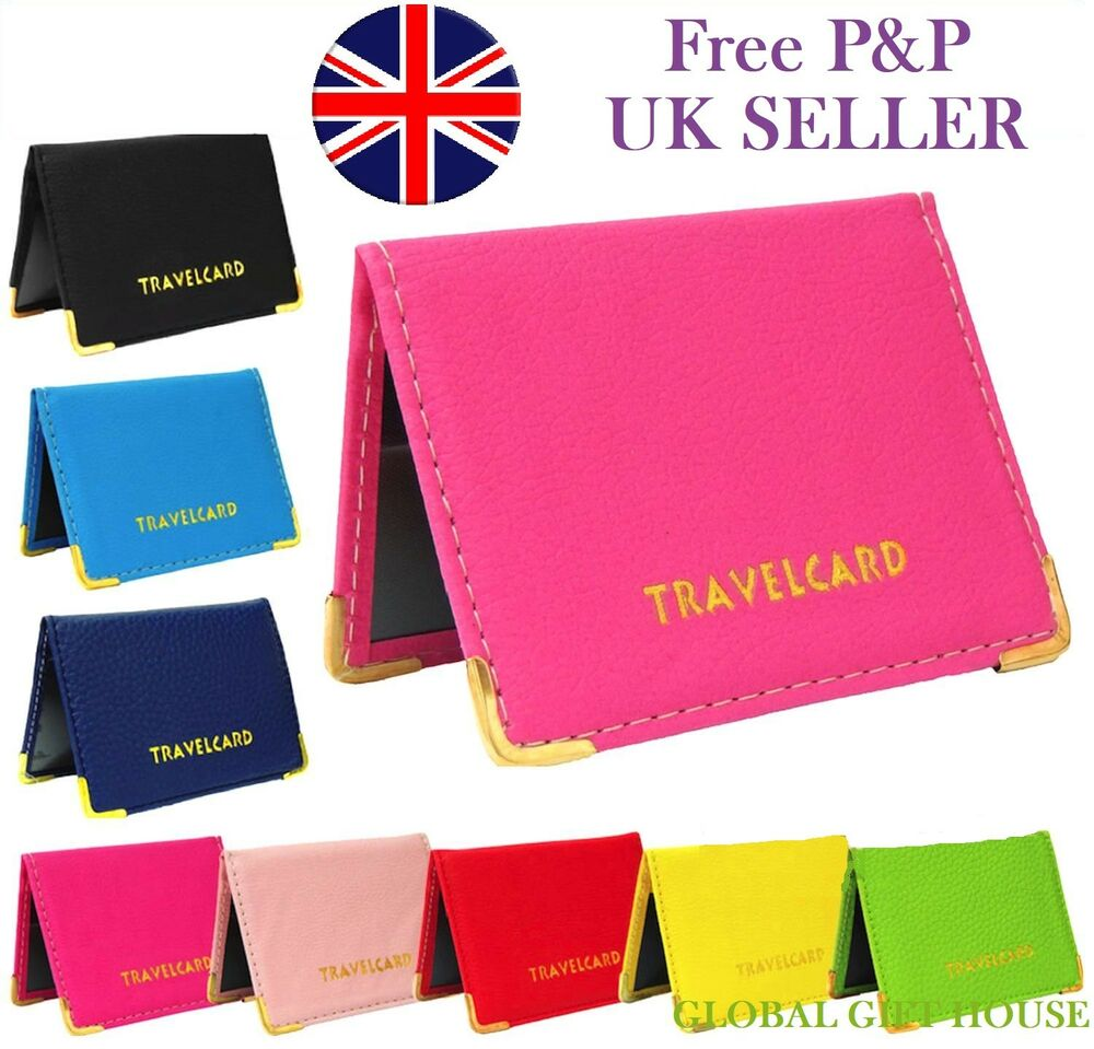 leather oyster travel card bus pass rail card holder