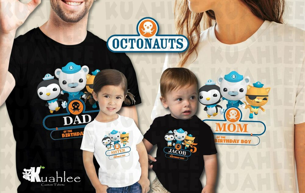 Details About Octonauts Personalized Custom Birthday Party Boy Shirt Family Shirts