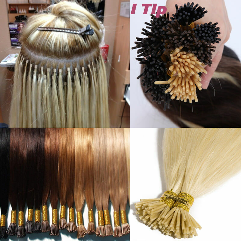 200 Strands I Tip Hair 100g Stick Tip 100 Real Human Hair