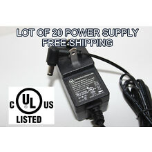 WHOLESALE LOT OF 20 12V 0.5A 500mA 5.5mm 2.5mm 2.1mm AC DC POWER SUPPLY ADAPTER