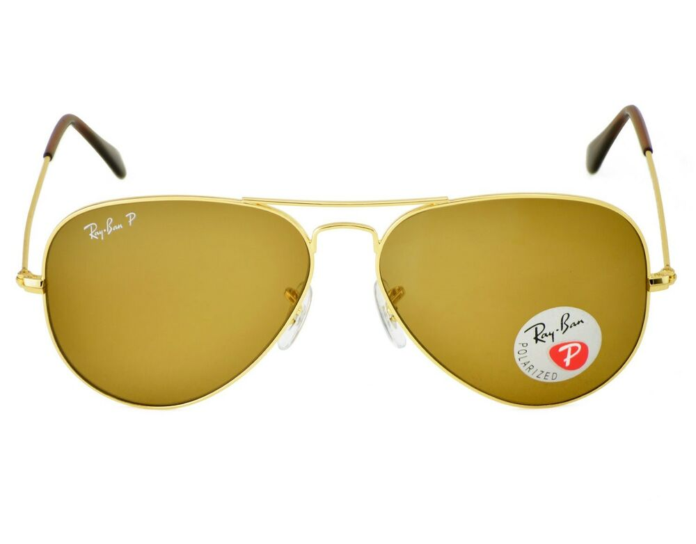 72f721ce3a Details about Ray-Ban RB3025 Aviator Classic 001 57 Gold Frame Polarized  Brown Classic B-15