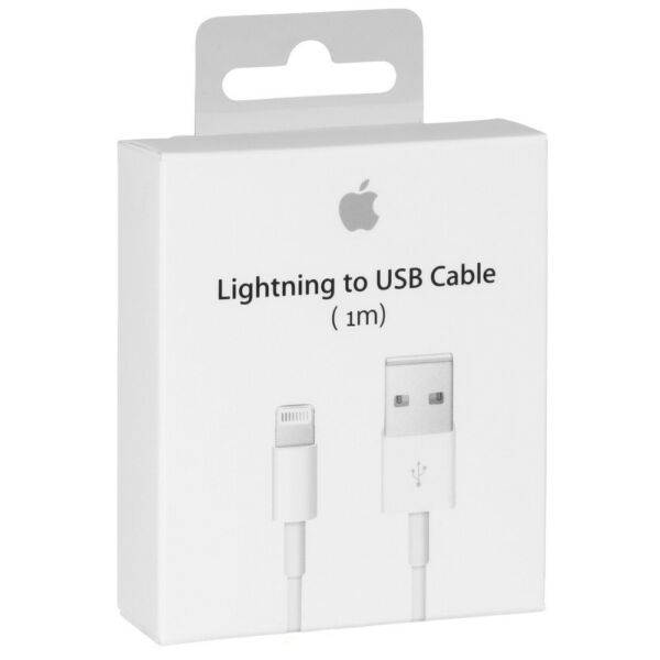 CARICATORE CARICA BATTERIE CAVO LIGHTNING APPLE ORIGINALE IPHONE 5 6 7 8 X IPAD